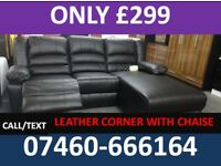 898 NEW 3 AND 2 SEATER LEATHER RECLINER SOFA