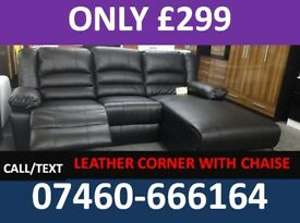 839 NEW 3 AND 2 SEATER LEATHER RECLINER SOFA
