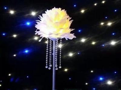 Centerpiece Feather Ball Large Wedding Ball Decorate Balls 14 inches White  - Feather Centerpiece