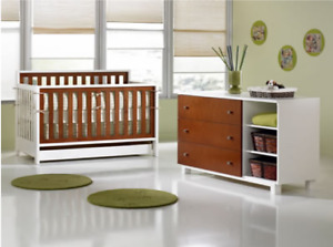 Bedroom set for girl or boy 3 in 1 : crib, day bed, double bed