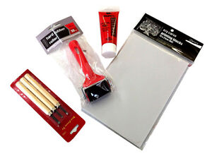 Print Making Starter Kit - replacement for linoleum ( lino ) carved printing