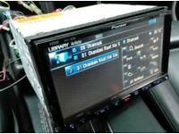 Pioneer sat nav, Bluetooth, hddvd double din head unit