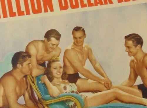 "Betty Grable & Sexy Boys  ~ Million Dollar Legs ~ Title Card ~ 12.75"" x 9.75"""