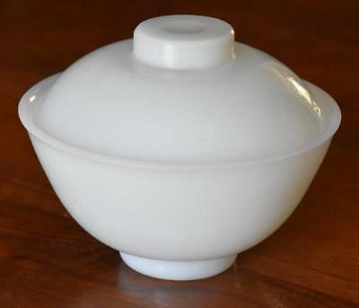 Used, LOVELY CHINESE PEKING GLASS VERY LIGHT BLUE GREEN JADE COVERED RICE BOWL for sale  Shipping to Canada