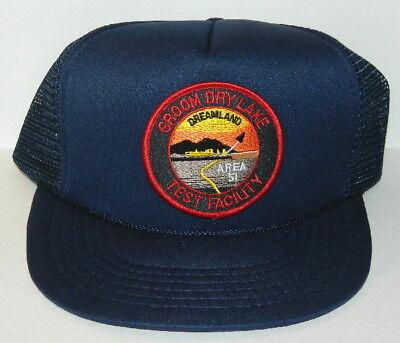 ID4 Movie Area 51 Groom Lake Logo Embroidered Patch Baseball Hat, NEW UNUSED