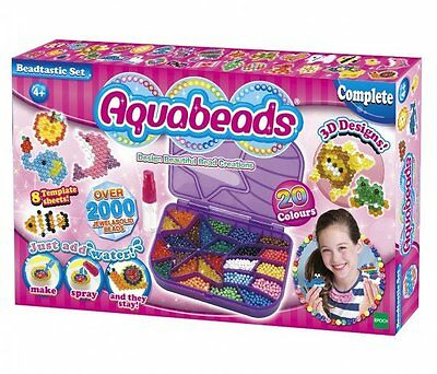 Aquabeads BEADTASTIC SET - over 2000 solid + jewel AQUA BEADS Star Bead Case