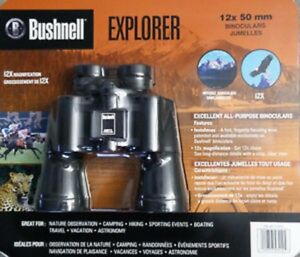 Brand new binoculars by Bushnell (12x50)