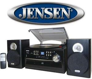 NEW OB JENSEN 4W CD STEREO TT SYS 4W CD Stereo System with Cassette, Turntable and AM/FM Radio - BLACK 106181816