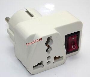 Adaptateur secteur universel prise electrique interrupteur - Adaptateur electrique usa europe ...