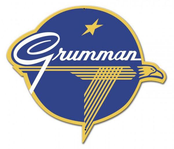 Grumman Logo Plasma Metal Sign Hand Made in the USA with American Steel