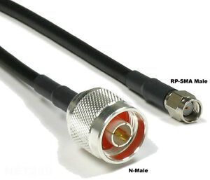 RP SMA Type N Male 10FT 3m Pigtail Jumper Coax Cable D-Link ALFA