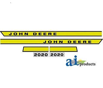 John Deere 2020 Tractor Hood Decal Set