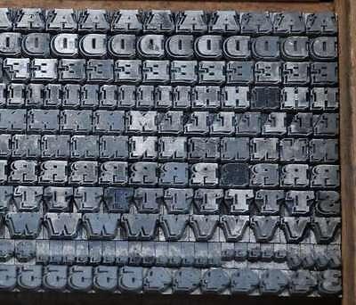 Bleischrift 4 mm Bleisatz Buchdruck Handsatz Alphabet Schrift ABC Bleilettern