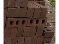 Unused New Brown Bricks x 100