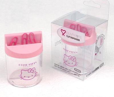 Hello Kitty Clip Dispenser Paper Magnetic Holder Storage Organizer Office Desk V