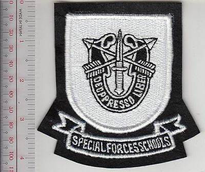 Green Beret US Army Special Forces Training  Flash & Crest JFK Special Warfare