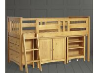 2 Pine Single Cabin Beds