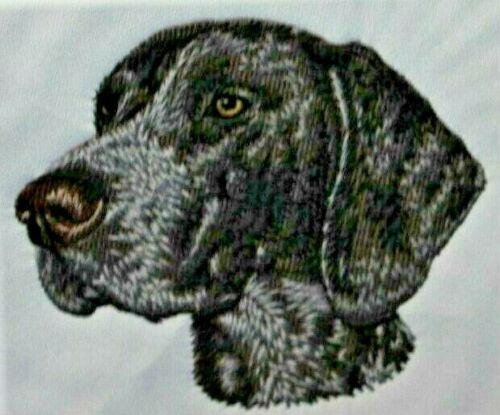 German Shorthaired Pointer Dog Breed Bathroom SET OF 2 HAND TOWELS EMBROIDERED