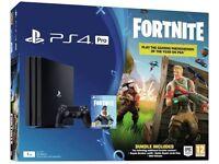 PS4 Pro 1tb Brand New Fortnite Bundle