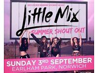 2 x little mix GOLDEN CIRCLE tickets NORWICH 3rd sept