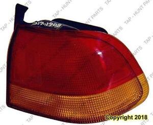 Tail Light Driver Side Sedan Honda Civic 1996-1998