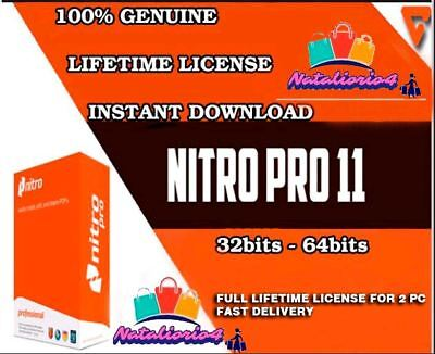 Nitro Pro 11 PDF 2018 - FULL License (LIFETIME LICENSE - 2pc)