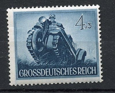 WWII GERMAN 1944 WAR MEMORIAL STAMP MI874 KETTENKRAD MOTORCYCLE---------REDUCED