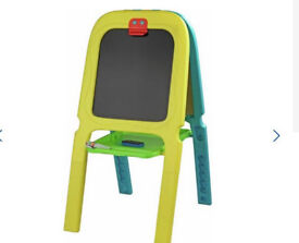 Chad Valley Double Sided Easel(Magnetic board on one side and a chalk board on the other)