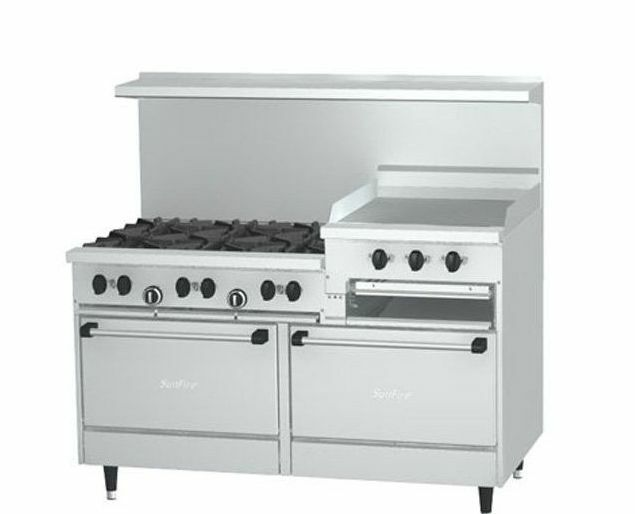 Garland X60 6r24rr Sunfire 6 Burner Gas Range With 24