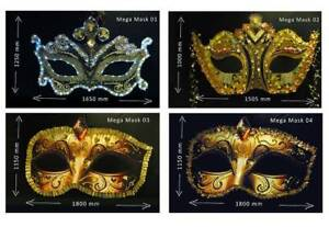 Four Huge Masquerade Masks Party Decoration Miscellaneous Goods