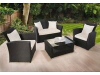 **FREE & FAST UK DELIVERY** 5 Piece Yasmin Rattan Conservatory Garden Furniture Set - BRAND NEW