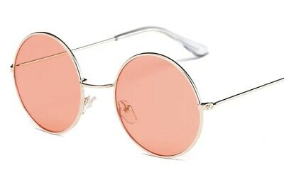 Women's Classic Metal Frame Round Light Red (Metal Rounds)