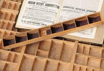 Mini Druckerei-Setzkasten 50x5cm Kasten shabby-chic Vintage Holz Setzkasten