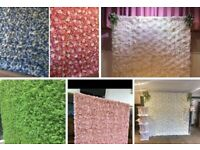 Large Luxury Flower Wall Backdrop Hire **from £120** Sweet Carts, Baby Blocks, Donut/Prosecco Wall