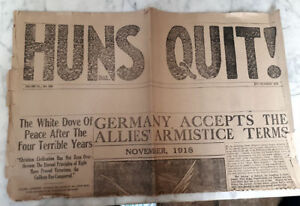 Very Rare Nov 9th & 11th End of WWI Halifax Newspapers