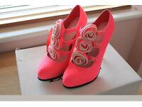 Pink heels size 8
