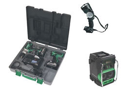 BRAND NEW Hitachi 18v Twin Drill Kit with 2x 5.0ah, Radio, Torch and Charger