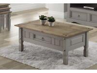 ~SOLD~ Corona grey wax coffee table ( Last Box ) ~SOLD~