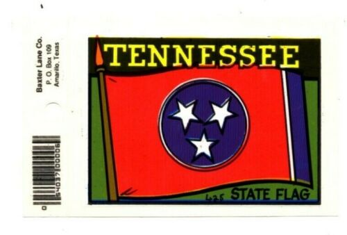 Lot of 12 Tennessee State Flag Souvenir Decals Stickers - New - Free S&H