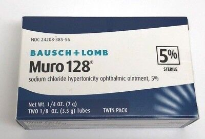 Ointment Twin Pack (Bausch & Lomb Muro 128 Twin Pack 5% Sterile Ophthalmic Ointment 3.5)