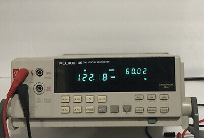 Fluke 45 Dual Display Multimeter In Good Condition Used Calibratedleadsp.s.w