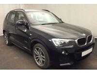 Black BMW X3 2.0TD 4X4 2015 xDrive20d M Sport FROM £93 PER WEEK!