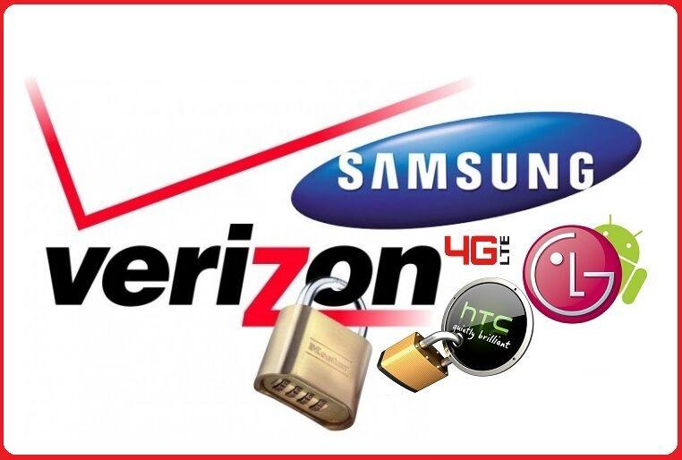 VERIZON Samsung S4 S5 S6 S6 EDGE+ NOTE 3,4,5 LG G2 G3 G4 V10 HTC UNLOCK SERVICE