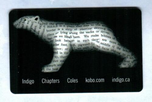 INDIGO ( Canada ) Book Page Polar Bear 2011 Gift Card ( $0 )
