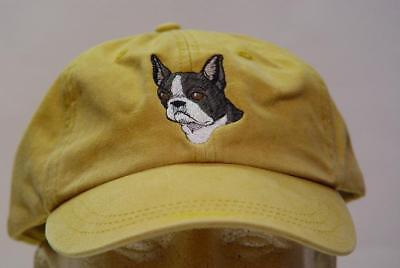 BOSTON TERRIER DOG HAT WOMEN MEN EMBROIDERED CAP Price Embroidery Apparel ()