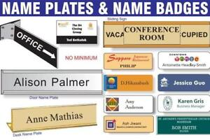 Customized Desk & Door Sign And Name Badges