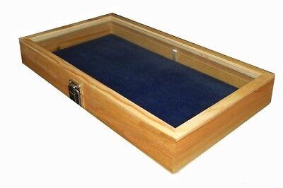 Key Lock Wood Jewelry Collectibles Display Organizer Case Box Choose Pad (Wood Jewelry Display Case)