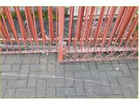 Heavy metal driveway gate