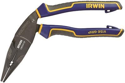 "NEW IRWIN 1902419 NEEDLE NOSE 8"" MAX CUTTING PLIERS CRIMPER STRIPPERS VISE GRIP"