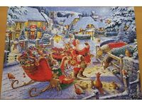 RAVENSBURGER PUZZEL - SANTA'S CHRISTMAS SUPPER - 1000 Pieces